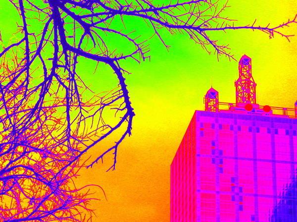 Dallas In Vivid Colors Art Print