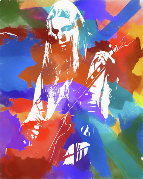 Wall Art - Mixed Media - Colorful Gregg Allman by Dan Sproul