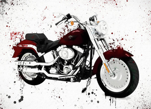 Painting - Colorful Harley Davidson Paint Splatter by Dan Sproul