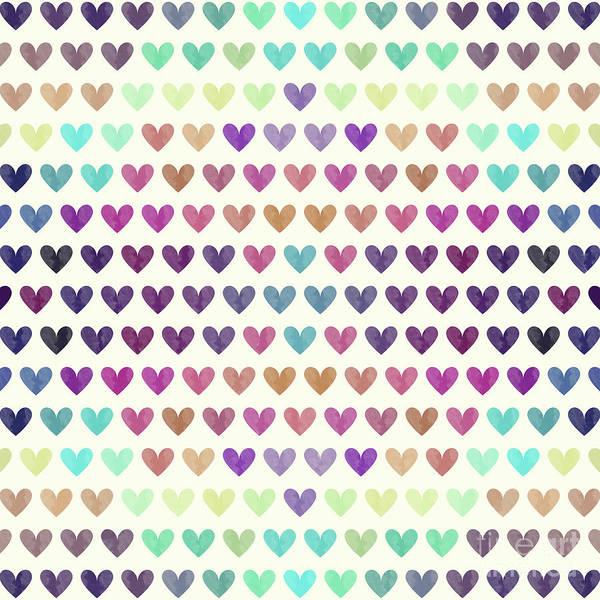 Wall Art - Digital Art - Colorful Hearts IIi by Amir Faysal