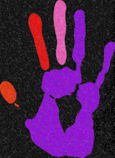 Digital Art - Colorful High Five by Shelli Fitzpatrick