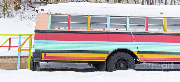 Wall Art - Photograph - Colorful Hippy Bus Panorama  by Edward Fielding