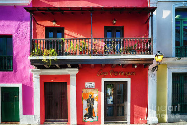 Wall Art - Photograph - Colorful Historic Spanish Colonial Style House In Old San Juan by George Oze