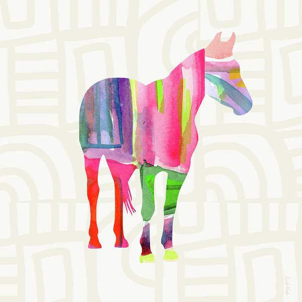 Wall Art - Painting - Colorful Horse 2- Art By Linda Woods by Linda Woods