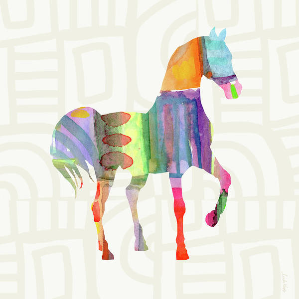 Wall Art - Painting - Colorful Horse 3- Art By Linda Woods by Linda Woods