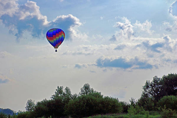 Photograph - Colorful Hot Air Balloon by Angela Murdock