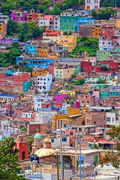 Photograph - Colorful Houses In Guanajuato 2 by Tatiana Travelways