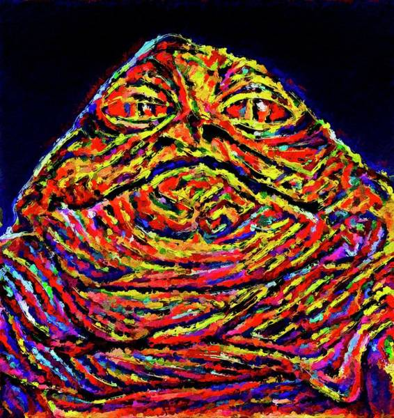 Galactic Empire Photograph - Colorful Jabba by Modern Art