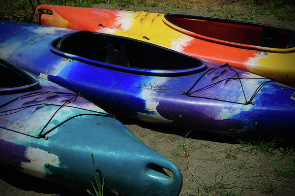 Photograph - Colorful Kayaks by Tikvah's Hope