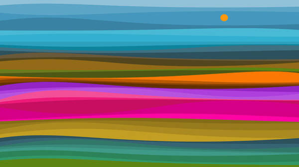 Digital Art - Colorful Landscape Abstraction by Val Arie