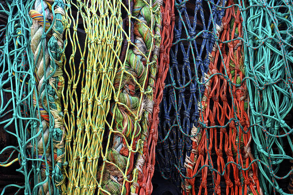 Wall Art - Photograph - Colorful Layers Of Fishing Nets by Carol Leigh