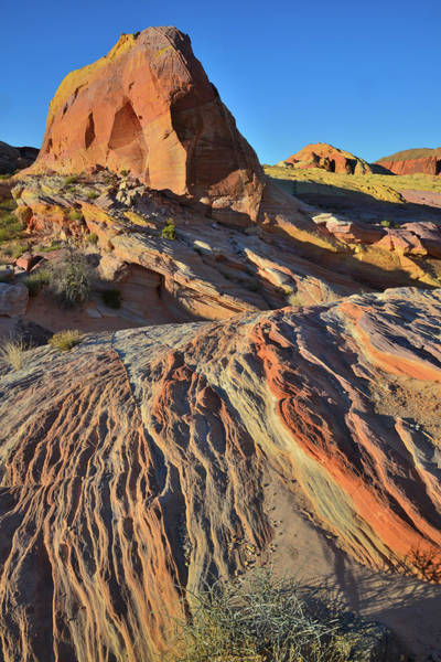 Photograph - Colorful Layers Of Sandstone In Pastel Canyon In Valley Of Fire by Ray Mathis