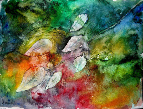 Painting - Colorful Leaves by Carol Crisafi