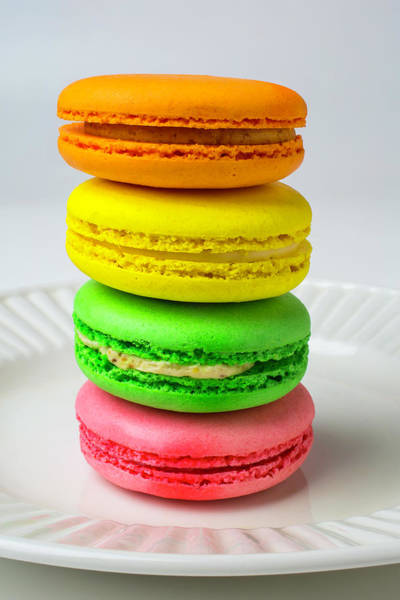 Filling Photograph - Colorful Macaroons by Garry Gay