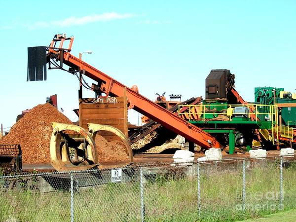 Photograph - Colorful Machinery At The Chip Mill  by Delores Malcomson
