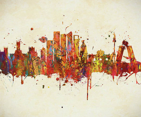 Painting - Colorful Madrid Skyline by Dan Sproul