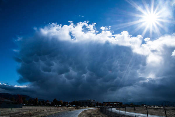 Rogue Valley Photograph - Colorful Mammatus Cloud by Mick Anderson
