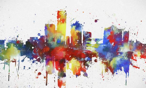 Neighborhood Painting - Colorful Milwaukee Skyline by Dan Sproul