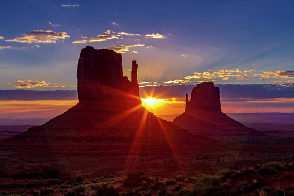 Photograph - Colorful Monument Valley Sunrise by Teri Virbickis