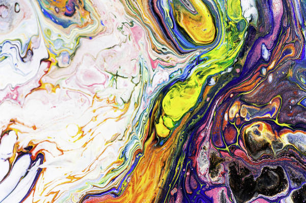Wall Art - Painting - Colorful Night Dreams 11. Abstract Fluid Acrylic Painting by Jenny Rainbow