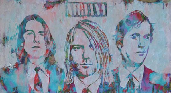Dave Grohl Painting - Colorful Nirvana Grunge by Dan Sproul