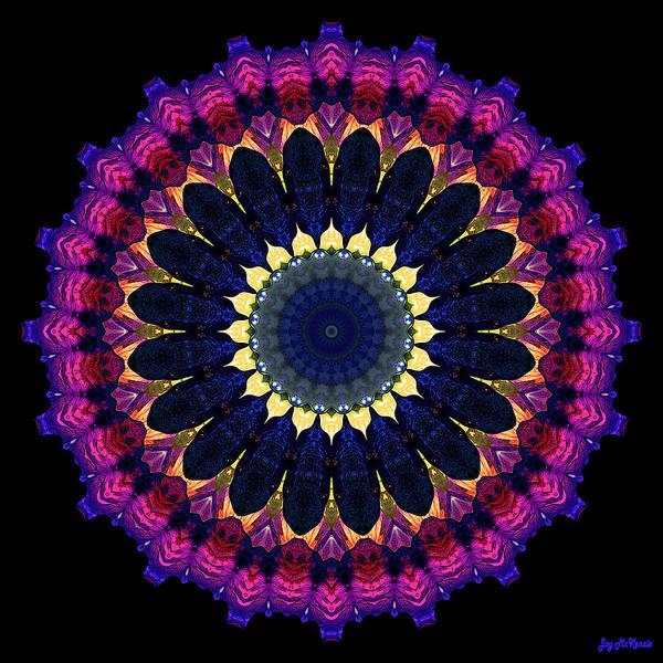 Psychedelia Digital Art - Colorful No. 8 Mandala by Joy McKenzie