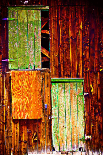 Photograph - Colorful Old Barn Wood by James BO Insogna
