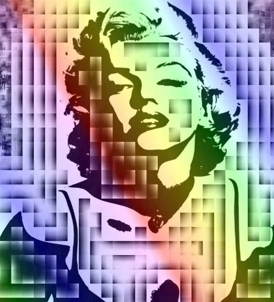 Leading Actress Digital Art - Colorful Original Marilyn by Denny Phillips