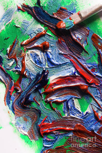 Painting - Colorful Paint Strokes With Paint Brush by Jorgo Photography - Wall Art Gallery