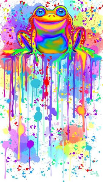 Wall Art - Painting - Colorful Painted Frog  by Nick Gustafson