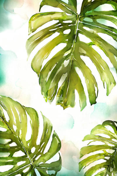 Leaf Painting - Colorful Palm by Mauro DeVereaux