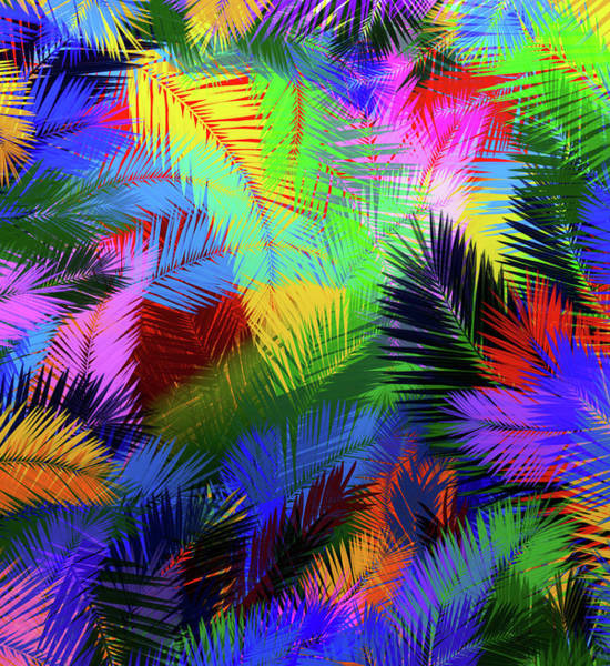 Wall Art - Digital Art - Colorful Palms by Bekim M