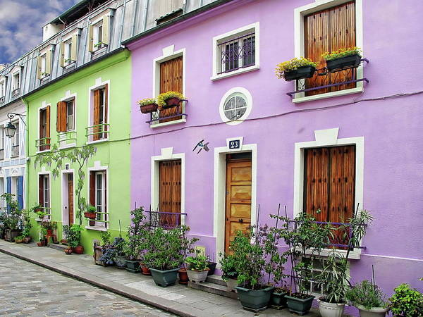 Photograph - Colorful Parisian Homes by Anthony Dezenzio