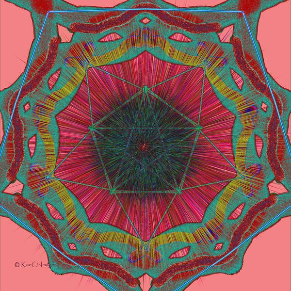 Digital Art - Colorful Pentagonal Abstract by Kae Cheatham