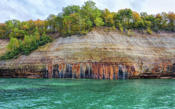 Photograph - Colorful Pictured Rocks by John M Bailey