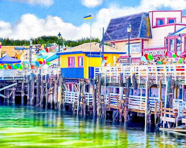 Photograph - Colorful Pier In Monterey California by Mark Tisdale