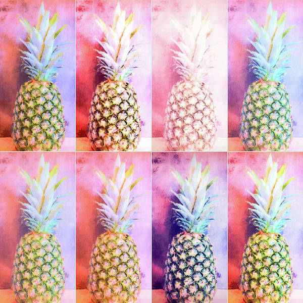 Photograph - Colorful Pineapple Collage by Andrea Anderegg