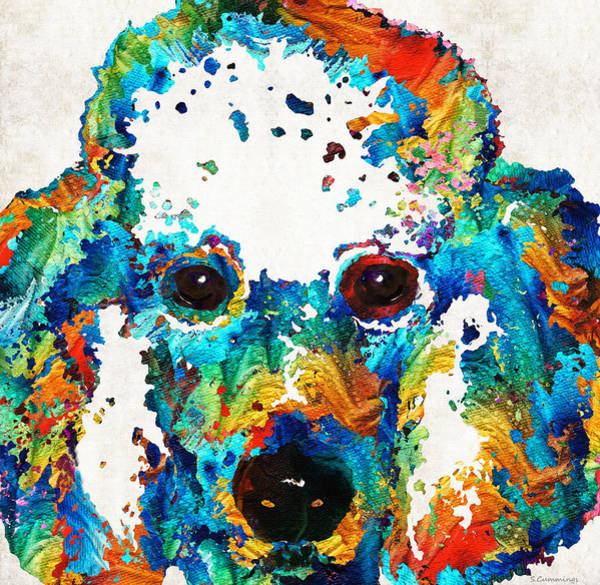 Wall Art - Painting - Colorful Poodle Dog Art By Sharon Cummings by Sharon Cummings
