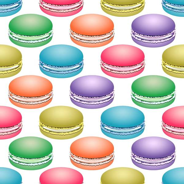 Digital Art - Colorful Pop Art Macarons by MM Anderson