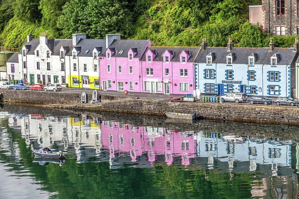 Wall Art - Photograph - Colorful Portree Harbor Buildings by W Chris Fooshee