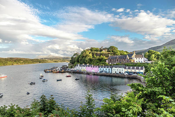 Wall Art - Photograph - Colorful Portree Harbor  by W Chris Fooshee