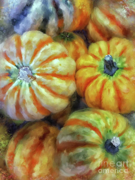 Digital Art - Colorful Pumpkins by Lois Bryan