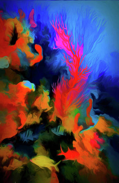 Photograph - Colorful Reef In Abstract Swirly Strokes by Debra and Dave Vanderlaan