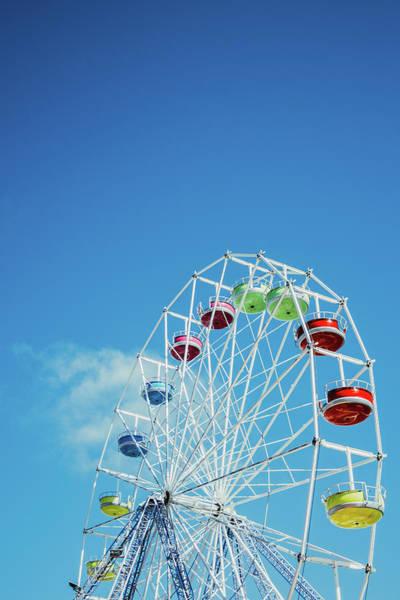 Wall Art - Photograph - Colorful Rertro Ferris Wheel by Pati Photography