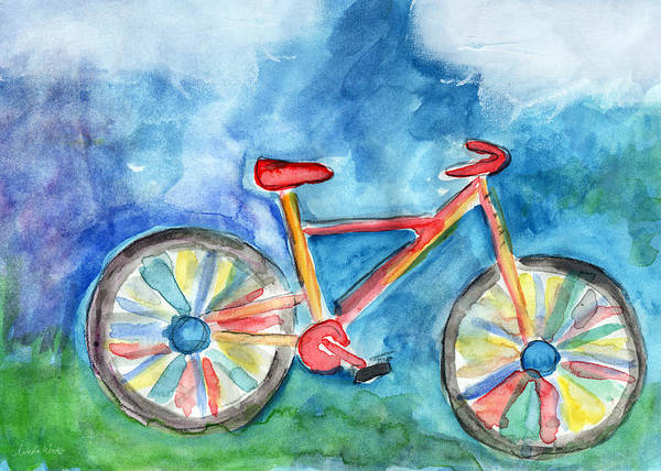 Wall Art - Painting - Colorful Ride- Bike Art By Linda Woods by Linda Woods