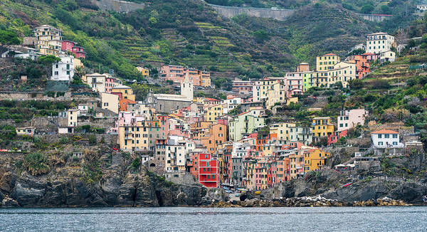 Wall Art - Photograph -  Colorful Riomaggiore Village At Cinque Terre, Italy by Michalakis Ppalis
