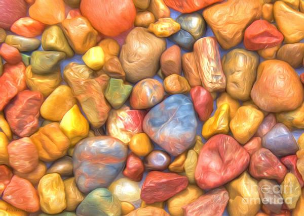 Red Rock Painting - Colorful Rocks by Veikko Suikkanen