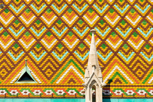 Photograph - Colorful Roof With Zsolnay Ceramics Matthias Church Budapest  by Matthias Hauser