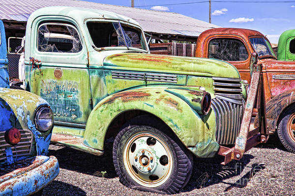Photograph - Colorful Rusty Trucks by Tatiana Travelways