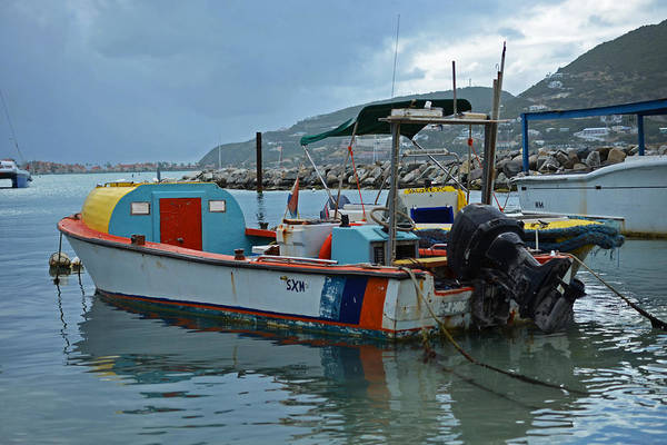 Powerboat Photograph - Colorful Saint Martin Power Boat Caribbean by Toby McGuire